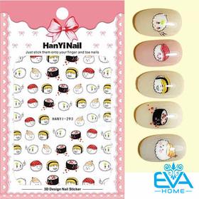 Miếng Dán Móng Tay 3D Nail Sticker Tráng Trí Hoạ Tiết Hoạt Hình Sushi Dễ Thương HY293 - 0012002537