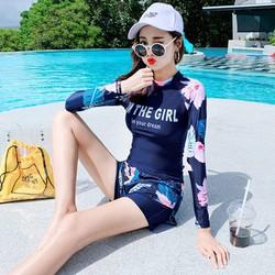 Đồ bơi, áo tắm dài tay họa tiết xinh xắn - BKI-015