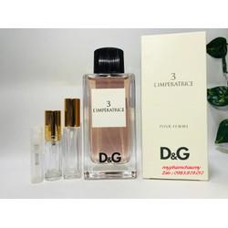 [Chiết 2,5,10ml] Nước Hoa D&G Dolce & Gabbana L'imperatrice 3 – Mẫu thử