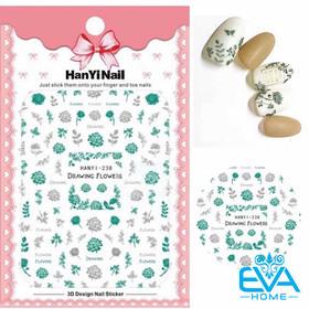Miếng Dán Móng Tay 3D Nail Sticker Tráng Trí Hoạ Tiết Bông Hoa HY238 - 0012002535
