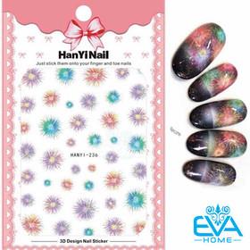 Miếng Dán Móng Tay 3D Nail Sticker Tráng Trí Hoạ Tiết Pháo Hoa HY236 - 0012002533