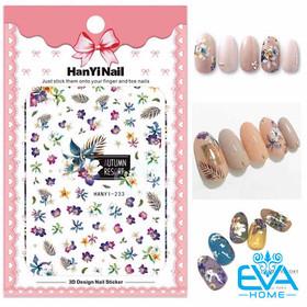 Miếng Dán Móng Tay 3D Nail Sticker Tráng Trí Hoạ Tiết Bông Hoa HY233 - 0012002532
