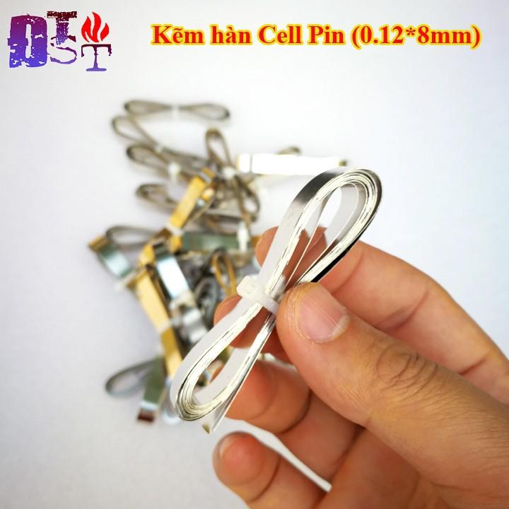 Kẽm hàn cell pin 0.12*8mm