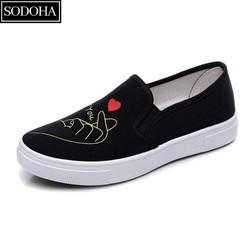 Giày lười nữ – giày lười nữ – giày vải nữ – giày búp bê nữ – giày nữ chính hãng SODOHA
