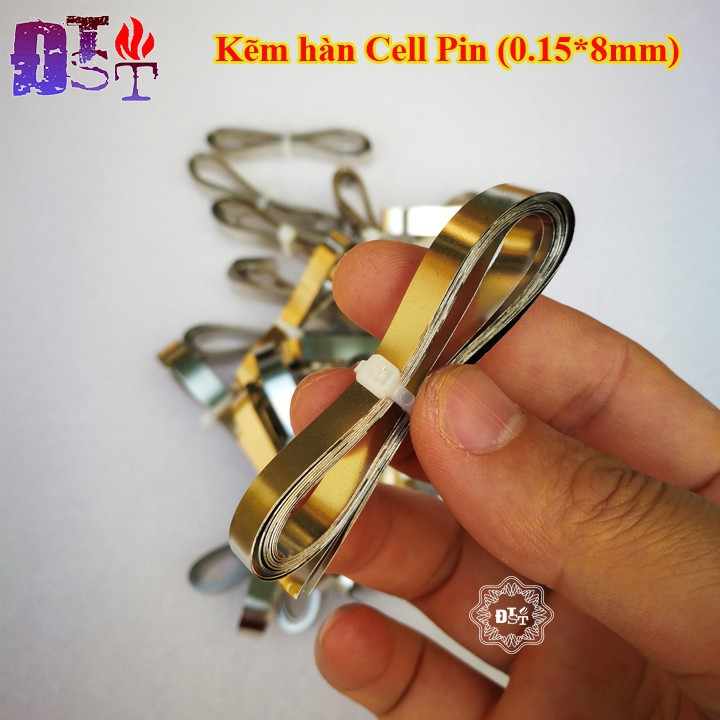 Kẽm hàn cell pin 0.15*8mm - Cuộn 2 mét - KST-1665
