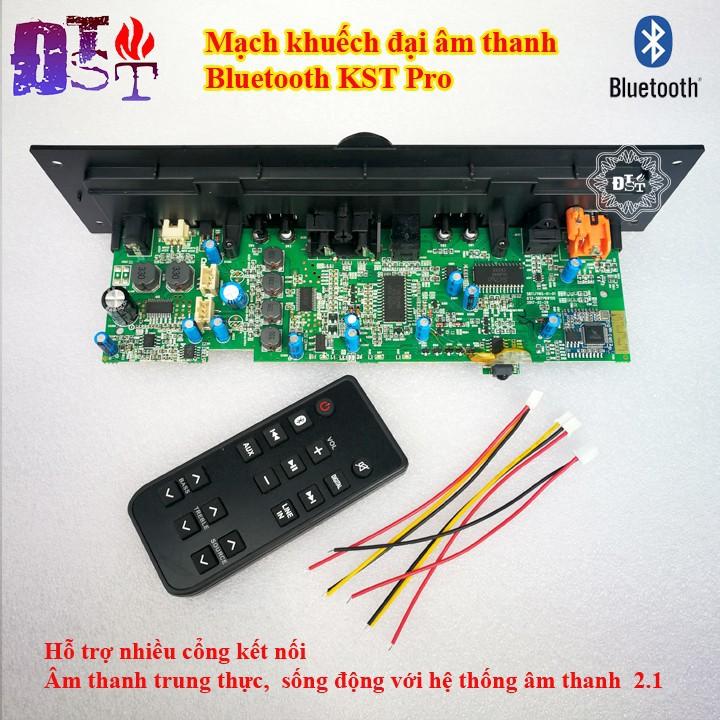 Bộ khuếch đại âm thanh Bluetooth Sub siêu trầm KST Pro 2.1 + Điều khiển từ xa