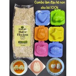 Bộ khuôn và nguyên liệu làm đậu hũ non cho bé