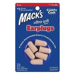 Hộp 3 đôi nút bịt tai chống ồn Mack's Ultra Soft Foam