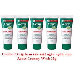 [COMBO 5] Sữa rửa mặt ngăn ngừa mụn Acnes 25 kháng khuẩn, làm dịu tình trạng mụn, ngăn hình thành mụn mới