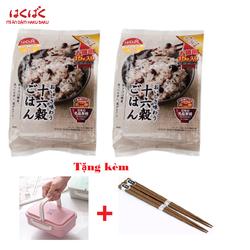 [Tặng hộp cơm + 2 đôi đũa] Combo 2 bịch hạt 16 loạt hạt HakuBaku Nhật Bản chính hãng - gói 450gr