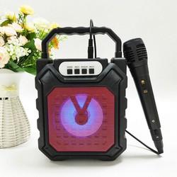 [ FreeShip - Tặng Micro] Loa bluetooth karaoke di động - âm thanh sống động - nhỏ gọn - giá rẻ - BASS trầm ấm
