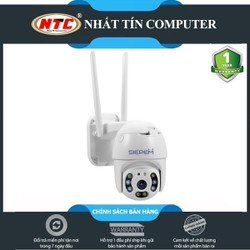 Camera IP Wifi Ngoài trời Siepem S6820 Plus PTZ 2 Râu FullHD 1080P 4 LED trợ sáng, 4 LED hồng ngoại [Trắng]