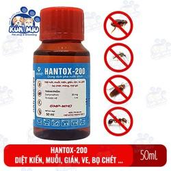 Dung dịch Hantox 200 diệt ruồi, muỗi, kiến, gián, rận, ve, ghẻ, bọ chét, mòng, mạt gà