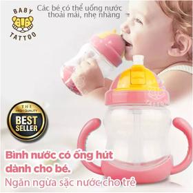 BABY TATTOO Bình sữa và Uống Nước chống sặc cho bé, bình cho bé tập uống, bình có ống hút cho bé - FE9005