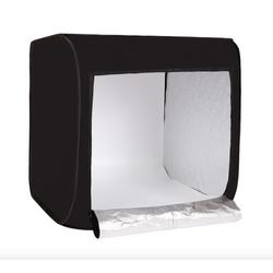 It Smart - Hộp chụp ảnh sản phẩm Studio Box 80x80cm đã bao gồm đèn led và 2 phông nền sáng tối