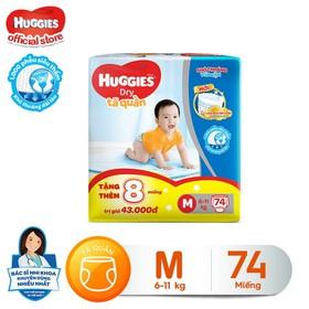 [Tặng thêm 8 miếng mỗi gói ] Tã quần HUGGIES DRY PANTS SUPER JUMBO M74 - L68 - XL62 - XXL56 - 8888336017402SG