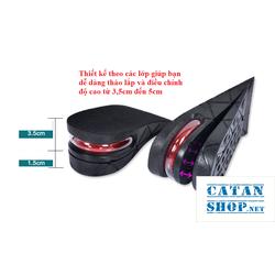 Combo 4 miếng lót đế giày tăng chiều cao Air có đệm khí siêu êm ái, giày đế cao, giày độn gót GD233-LGIAYTCC