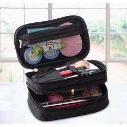 It Smart - Túi đựng đồ trang điểm mỹ phẩm 2 tầng - đen