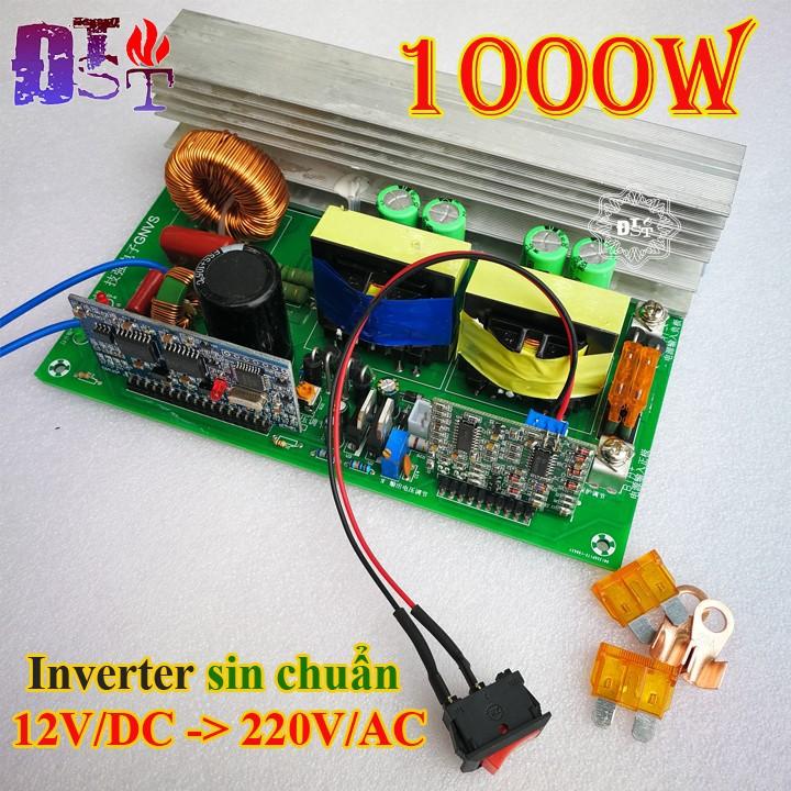Mạch kíck điện Sin chuẩn 12V lên 220V 1000W chạy các thiết bị trong nhà