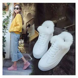giày bốt nữ cổ lông