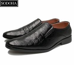 [ S*T ] giày tây nam không dây da đế khâu siêu bền