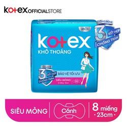 Băng vệ sinh Kotex khô thoáng siêu mỏng cánh 23cm (8 miếng/gói)