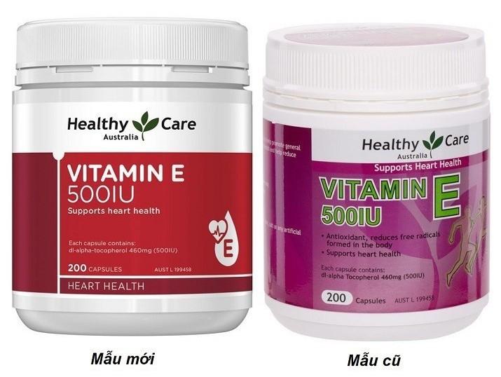 Sản phẩm Healthy Care Vitamin E 500IU của Úc, 200v