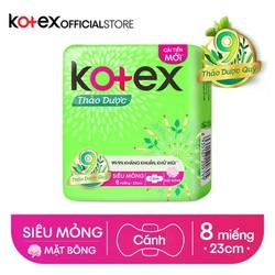 BVS Kotex Thảo dược kháng khuẩn khử mùi SMC cải tiến mới  23 cm ( 8 miếng/gói)
