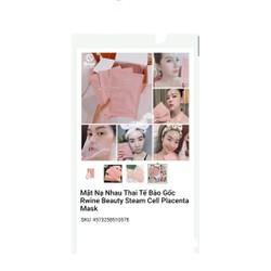 Combo 3 Mặt Nạ Tế Bào Gốc Nhau Thai Rwine Beauty Steam Cell Placenta Mask