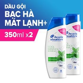 Combo 2 Dầu Gội Head & Shoulders Bạc Hà Mát Lạnh 350ml - TUHS00040CB