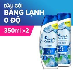 Combo 2 Dầu Gội Head & Shoulders Sub-Zero Băng Lạnh 0 Độ Chai 300ML