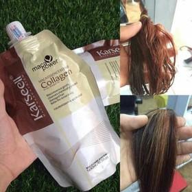 [FREE SHIP] Kem hấp ủ tóc Collagen Karseell siêu mềm mượt 500ml - 1 bịch ủ tóc - kem hấp tóc