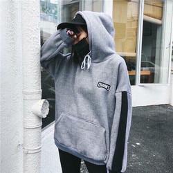 Áo hoodie nữ phối tay môt sọc
