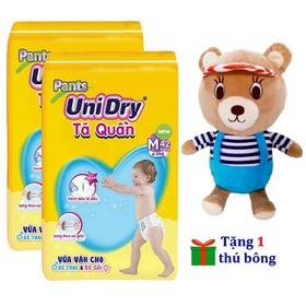 [Tặng 1 gấu bông áo sọc] Combo 2 gói tã quần Unidry size M42 - size L38 - size XL34 - XXL30 - UNI-01