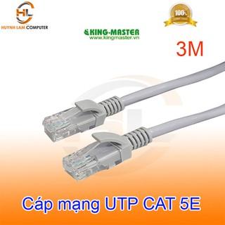 Cáp mạng 3M UTP CAT 5E King-Master High Speed trắng - Hãng phân phối - 080520KINGMASTER3M thumbnail