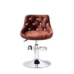 Ghế quầy giao dịch pen thấp nệm vải nhung nhập khẩu cao cấp tại TpHCM Nội thất CAPTA