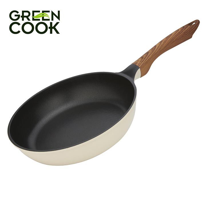 Chảo đúc chống dính ceramic đáy từ 24cm Green Cook GCP03-24IH