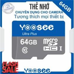Thẻ nhớ 64GB Camera điện thoại, các thiết bị cần lưu trữ Class 10