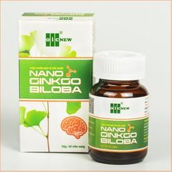 Nano Ginkgo Biloba – Hỗ trợ tăng cường tuần hoàn máu não, tăng trí nhớ, giảm nhanh triệu chứng thiểu năng tuần hoàn não - Hộp 60 viên nang mềm 300mg