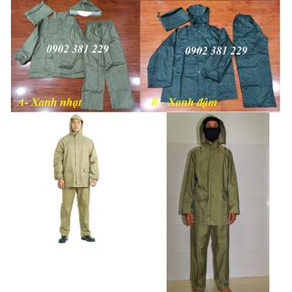 Bộ quần áo mưa quân nhu 2 màu lựa chọn - hình thật