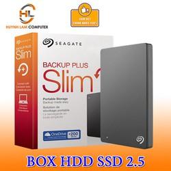 Box HDD 2.5inch USB 3.0 Seagate SLIM gắn mọi ổ cứng lên đến 2TB