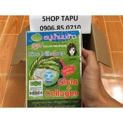 Xà phòng tắm trắng cám gạo Thái Lan - Full lốc 12 cục