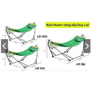 Võng xếp Duy Lợi cỡ Lớn, cỡ Đại kèm lưới võng + túi xách - vxdl001 thumbnail