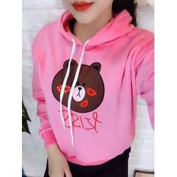 Áo hoodie nữ in hình gấu trúc