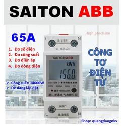 Công tơ điện tử, thiết bị đo công suất SAITON ABB 65A