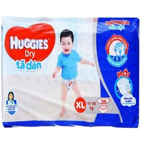 Tã dán Huggies Dry size XL 38 miếng (cho bé 11 - 16kg) - Tã dán Huggies Dry size XL 38 miếng (cho bé