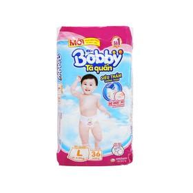 Tã quần Bobby size L 36 miếng (cho bé 9 - 13kg) 1 bich - Tã quần Bobby size L 36 miếng (cho bé 9 - 13