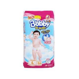 Tã quần Bobby size L 36 miếng (cho be 9 - 13kg) 1 bich - Tã quần Bobby size L 36 miếng (cho be 9 - 13 thumbnail
