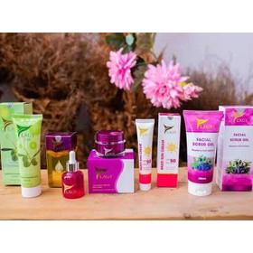 Combo YLAGY 5 sản phẩm chăm sóc da mặt chuyên sâu gồm kem face, serum, sữa rữa mặt, chống nắng, tẩy tế bào chết - Cb5sp