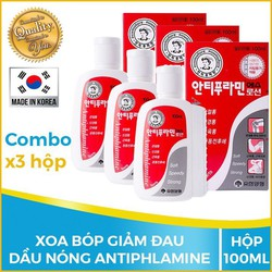 COMBO 3 Hộp Dầu nóng Hàn Quốc